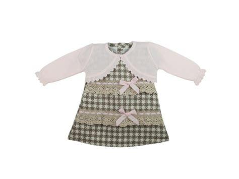 babyjurk maat 74 jurkje geruit met roze bolero babykleding maat 74 80