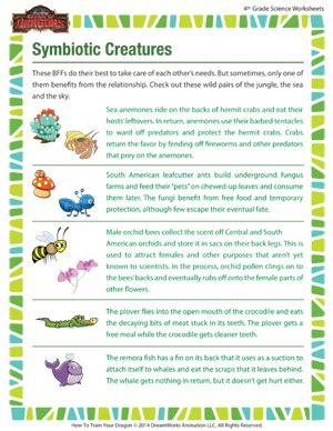 Symbiosis Worksheet by Symbiotic Relationships Worksheets Desirbrilliancecream