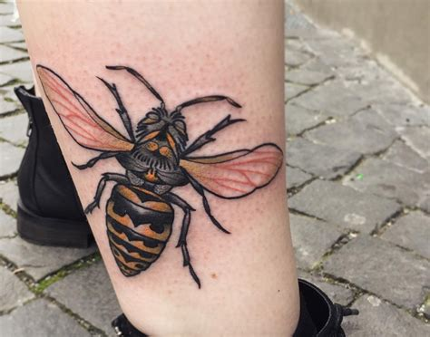 hornet tattoo bee meaning honeycombs hives hornets and more