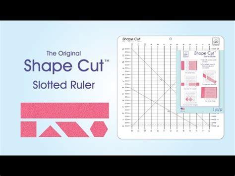 june tailor 174 shape cut ruler demonstration