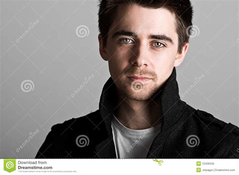 hair middle aged man dark handsome dark haired male with goatee beard royalty free