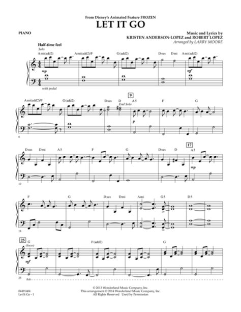 tutorial piano let it go free easy piano sheet music for let it go frozen sheet