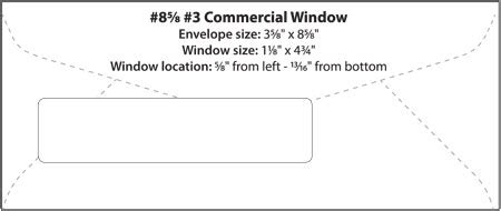 8 5 8 Quot 3 Quot Commercial Window Wsel Western States Envelope Templates