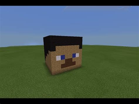 How To Make A Minecraft Steve Out Of Paper - minecraft pe how to build a steve