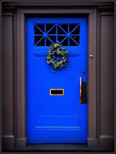 bright blue front door 15 colorful front door ideas design sponge