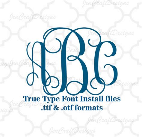 design font truetype vine interlocking monogram font in true type format ttf