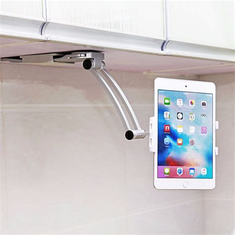 Terbaru Car Phone Holder 2 In 1 2017 car phone holder for kitchen tablet mount stand 2 in 1 wall countertop fit for 13 4cm to