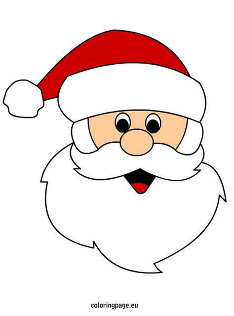 printable christmas masks santa claus face coloring page cricut pinterest