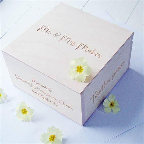 Wedding Box Message by Personalised Message Wedding Keepsake Box By Seahorse