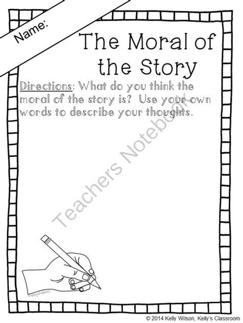 story themes and morals free worksheet what is the moral of the story writing