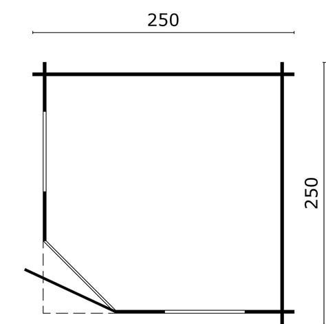 pavillon 250x250 gartenhaus jos blockhaus 250x250 cm holzhaus 28mm