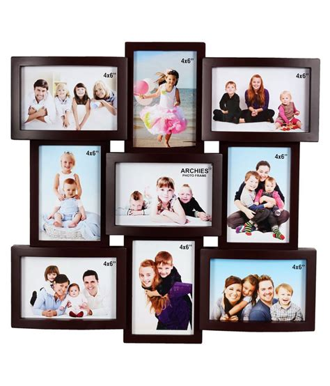 college photo frame archies collage frames plastic wall hanging brown collage