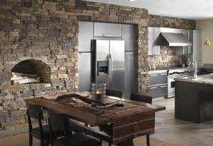Stone Kitchens Design by Decorative Kitchen Tile Design