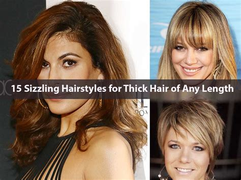 best medium length hairstyles medium hairstyles for any age 15 sizzling hairstyles for thick hair of any length