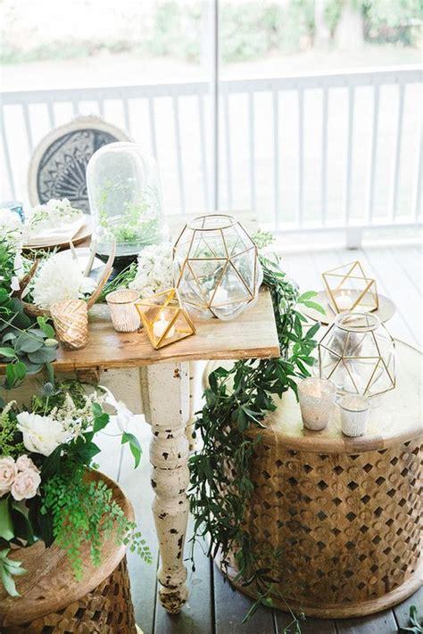 modern wedding trend terrarium geometric details