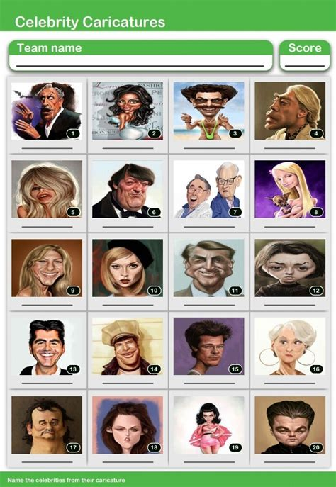 uk celebrities quiz celebrity caricatures quiz place the face picture round
