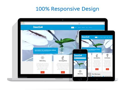 science lab responsive drupal template 52159