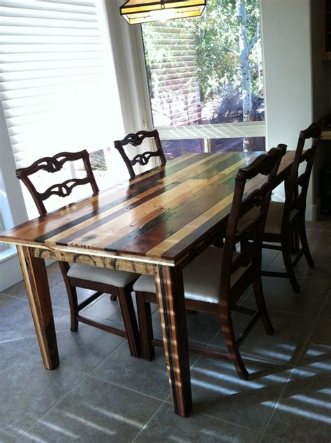 Dining Room Table Made From Pallets Dining Room Table Made From Pallet Wood Created By Gregg Daub Made By Meh