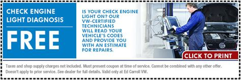 Free Check Engine Light Diagnosis by Free Volkswagen Check Engine Light Diagnosis Service