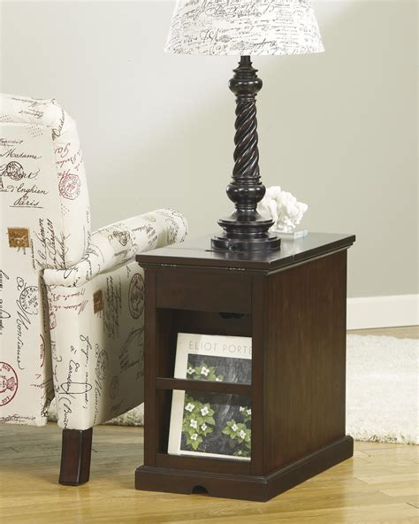 chair side table with power outlet signature design by ashley laflorn t127 668 chair side end