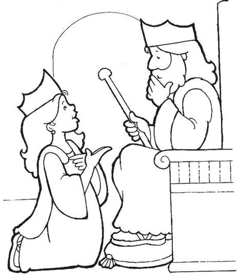 bible king coloring page queen esther coloring and bible coloring pages on pinterest