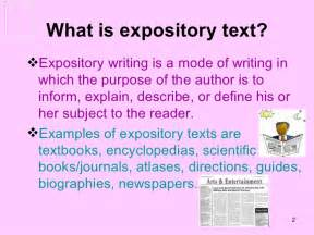 What Is A Expository Essay Exle by Expository Texts
