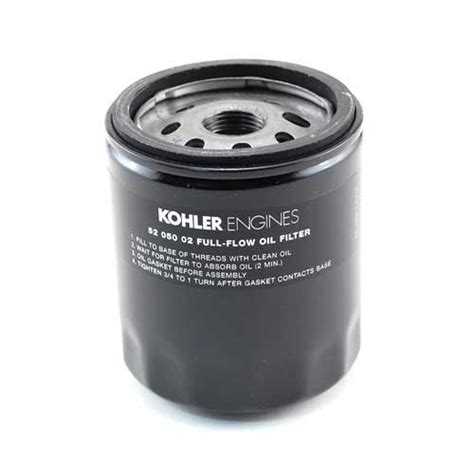 kohler   extra capacity oil filter lawnmower pros