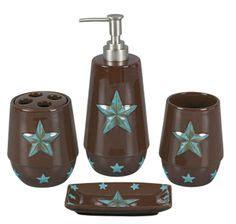 texas star bathroom decor turquoise star bath set cowboy and western decor texas