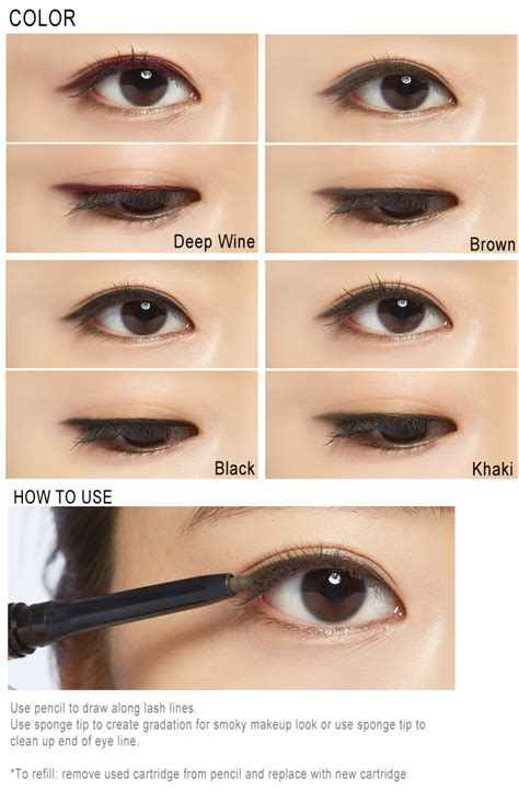 Eye Liner Silky missha m waterproof soft pencil eyeliner refill 0 3g ebay