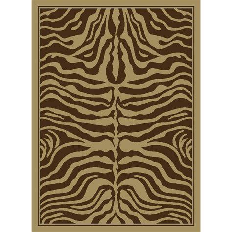 United Weavers 174 China Garden Brown Zebra Rug 5 3 Quot X7 2 Zebra Rug