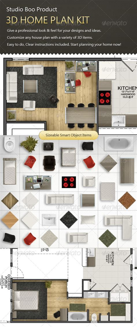 3d home kit by design works home plan kit graphicriver