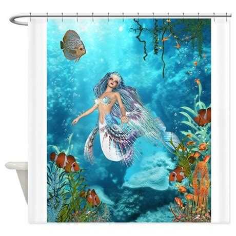 Best seller merrow mermaid shower curtain by the jersey shore store