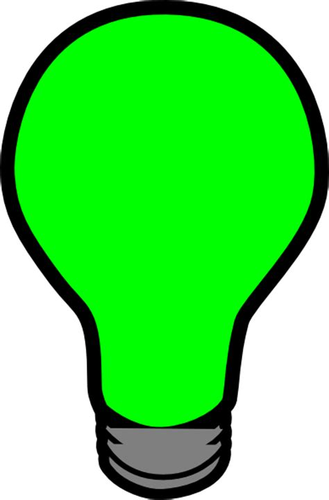 green lightbulb clip art at clker com vector clip art