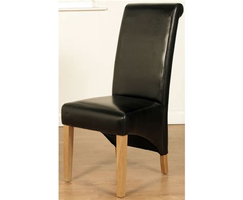 Dining Chairs Faux Leather Nico Black Faux Leather Dining Chairs
