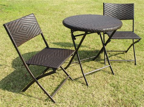 Small Outdoor Bistro Table Bellini Home And Gardens Wildon 3 Pc Folding Patio Bistro Set Outdoor Living Patio