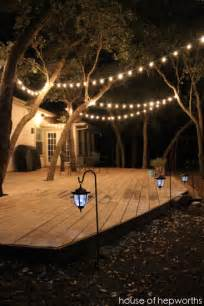 outdoor strand lighting add outdoor mood lighting for a big impact
