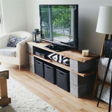 meuble de television en vieux bois de grange  blocks de
