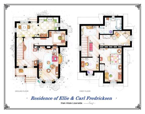 up house floor plan floor plans of homes from famous tv shows