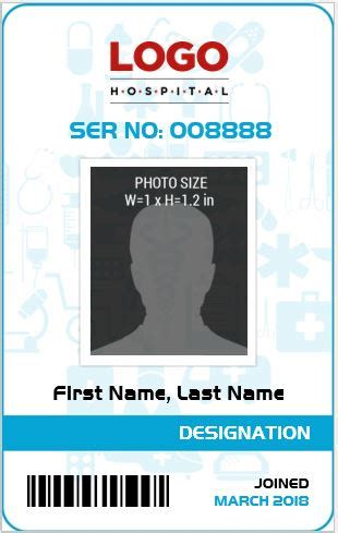 doctor id card template free doctor s photo id badge templates for ms word word