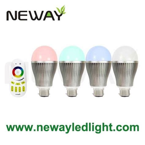 Led Color Changing Light Bulb With Wireless Remote 2010 9w b22 bayonet led color changing light bulb with wireless remote 9 watt multicolour rgb led