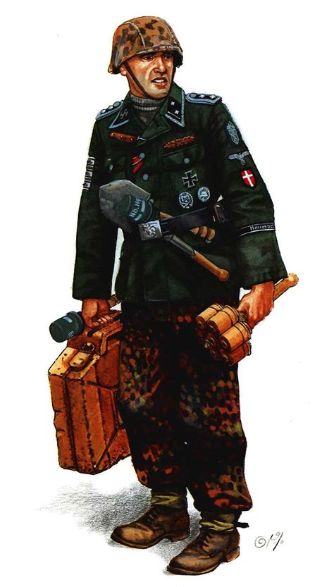 Figure 1 6 Tontenkopf Division German Army Ww2 hauptscharf 252 hrer sergeant major freiwilligen of the 11th