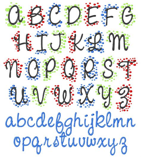 pattern dots free font styles embroidery font polka dot monogram from embroidery