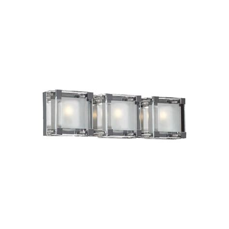 crystal bathroom vanity lights home decorators collection crystal cube 3 light polished