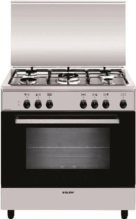 cucina a gas forno elettrico cucina a gas glem gas a855ei forno elettrico 80x50