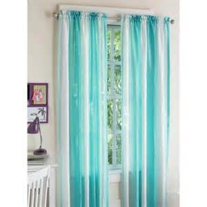 Ombre Drapes Your Zone Crushed Ombre Girls Bedroom Curtains Walmart Com
