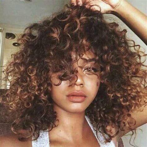 brown curly hair with highlights curly caramel balayage c u r l y h a i r pinterest