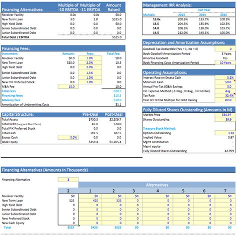 simple lbo model template simple lbo template excel model leveraged buyout