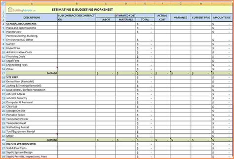 5  home renovation spreadsheet   Excel Spreadsheets Group