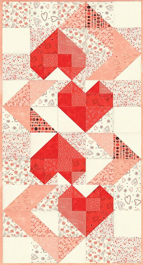 heart pattern quilt hearts intertwined table runner pattern by sandy gervais