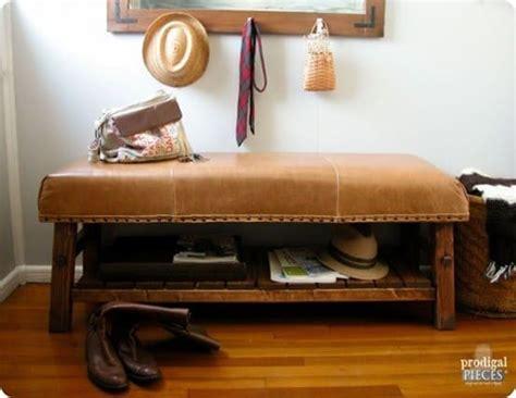 leather upholstered bench  storage knockoffdecorcom